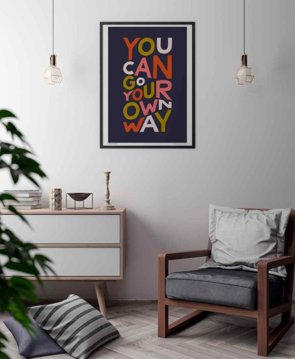 You Can Go Your Own Way Print   Music Prints and Song Lyric Prints From Sketchbook Design