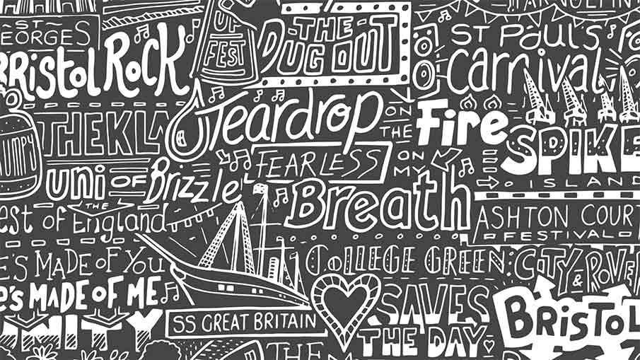 Close Up Image of Bristol Print