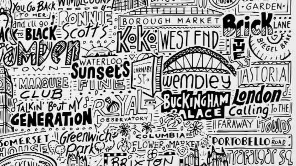 Close up image of London Landmark Print
