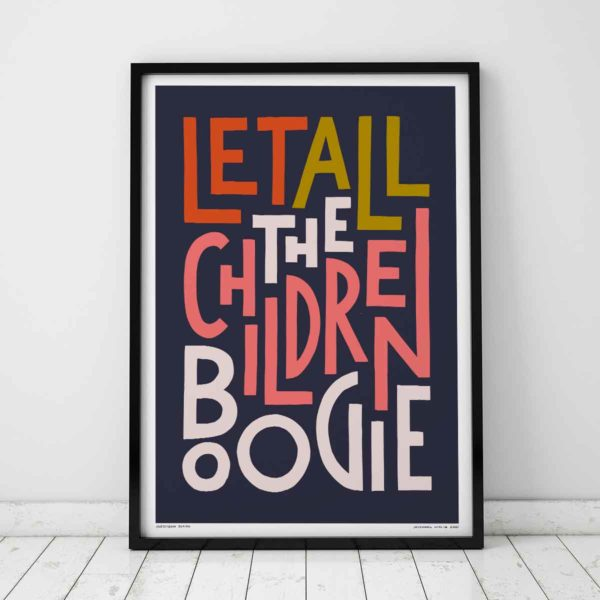 Let All The Children Boogie Print | Music Prints and Song Lyric Prints From Sketchbook Design