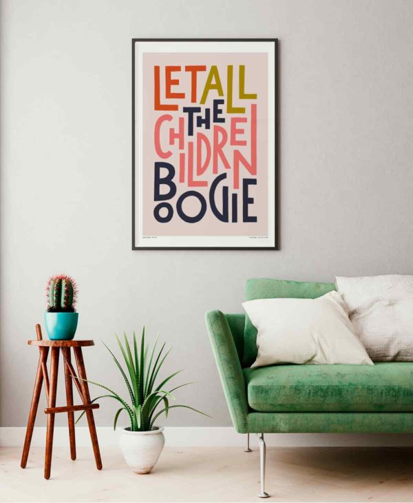 Let All The Children Boogie Print   Music Prints and Song Lyric Prints From Sketchbook Design