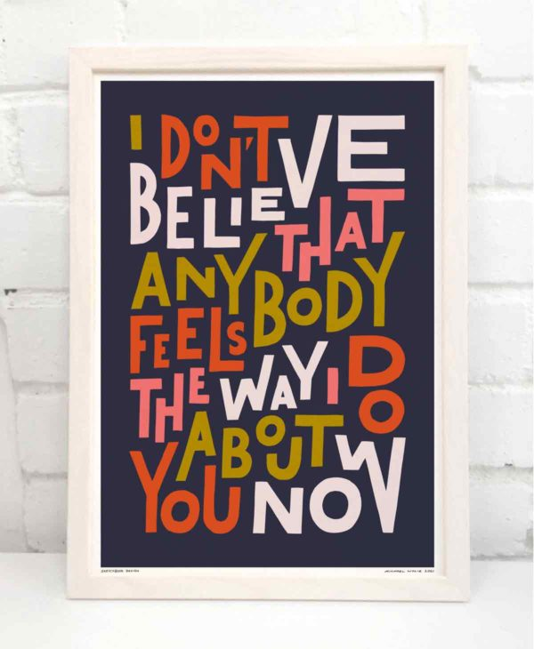 Feels the Way I Do Print   Music Prints and Song Lyric Prints From Sketchbook Design