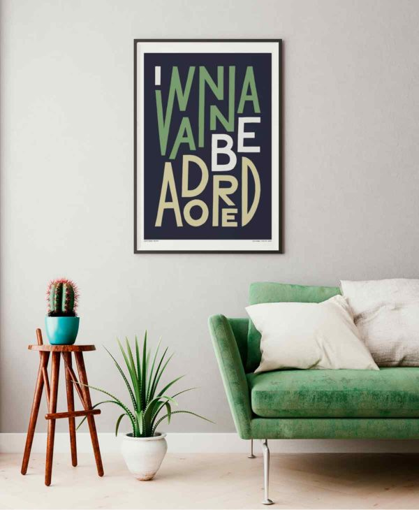 I Wanna Be Adored Print | Music Prints and Song Lyric Prints From Sketchbook Design