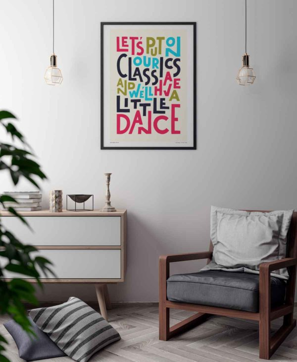 Lets Put On Our Classics Print | Music Prints and Song Lyric Prints From Sketchbook Design