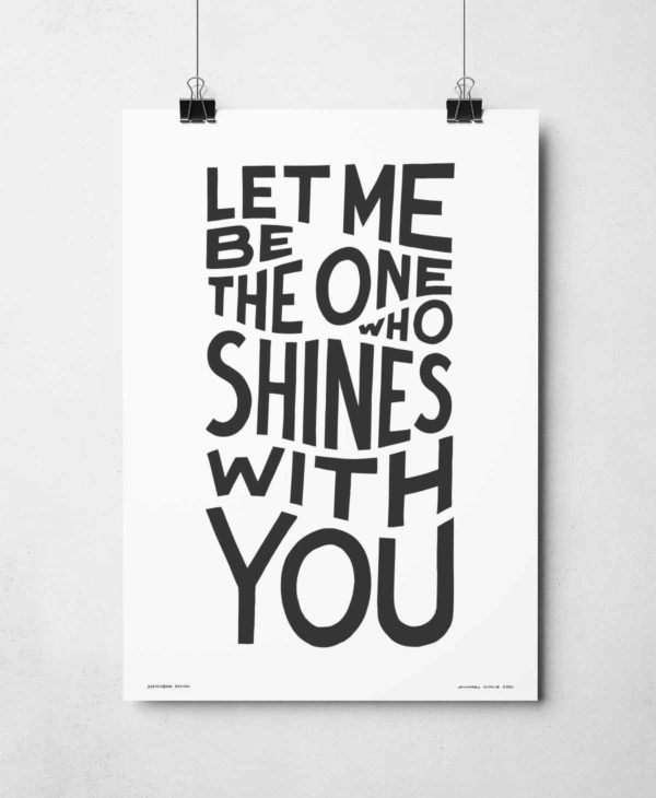 Shines With You Print | Music Prints and Song Lyric Prints From Sketchbook Design