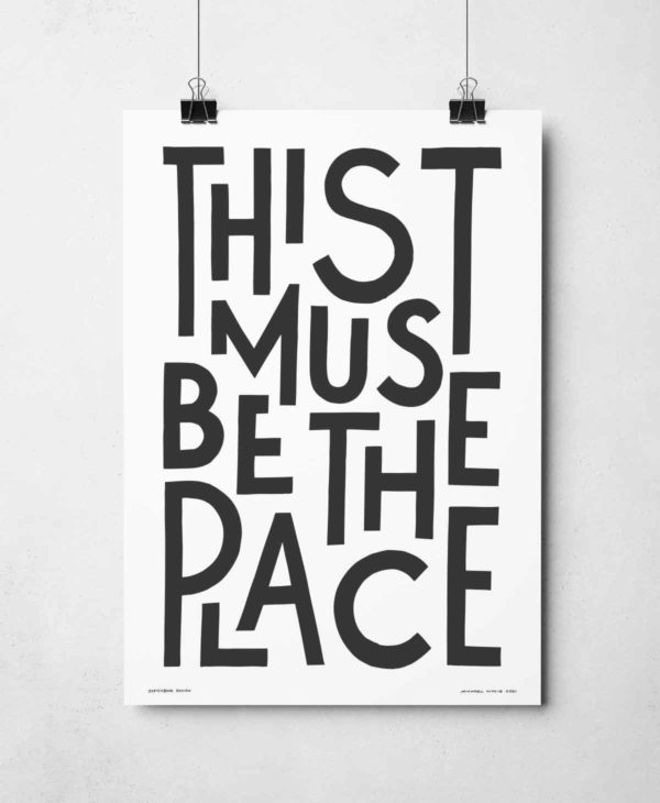 This Must Be The Place Print | Music Prints and Song Lyric Prints From Sketchbook Design
