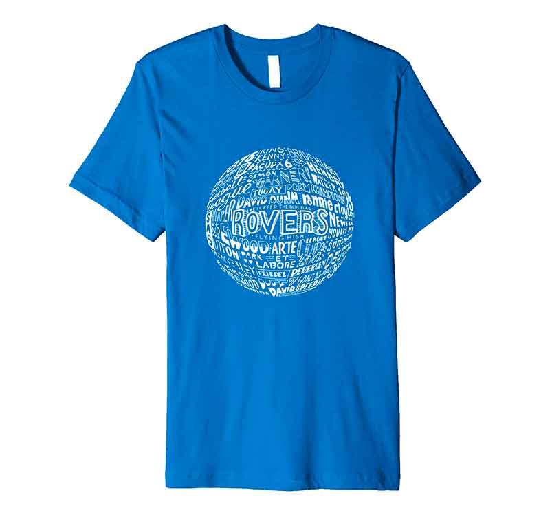 Blackburn Rovers Football T-shirt by Sketchbook Design