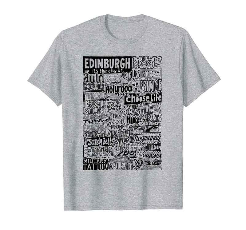 Edinburgh Landmarks T Shirt from Sketchbook Design