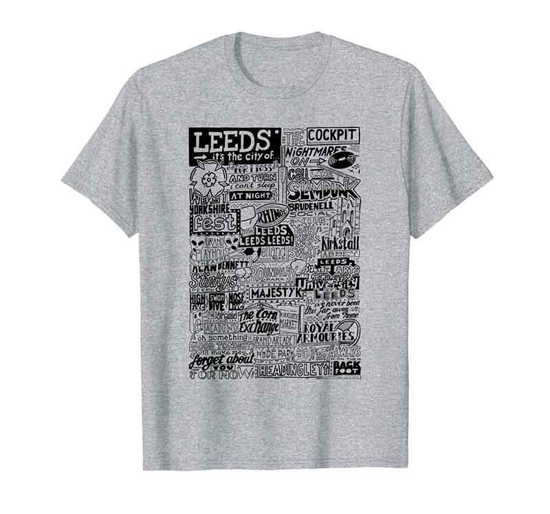 Leeds Landmarks T Shirt from Sketchbook Design