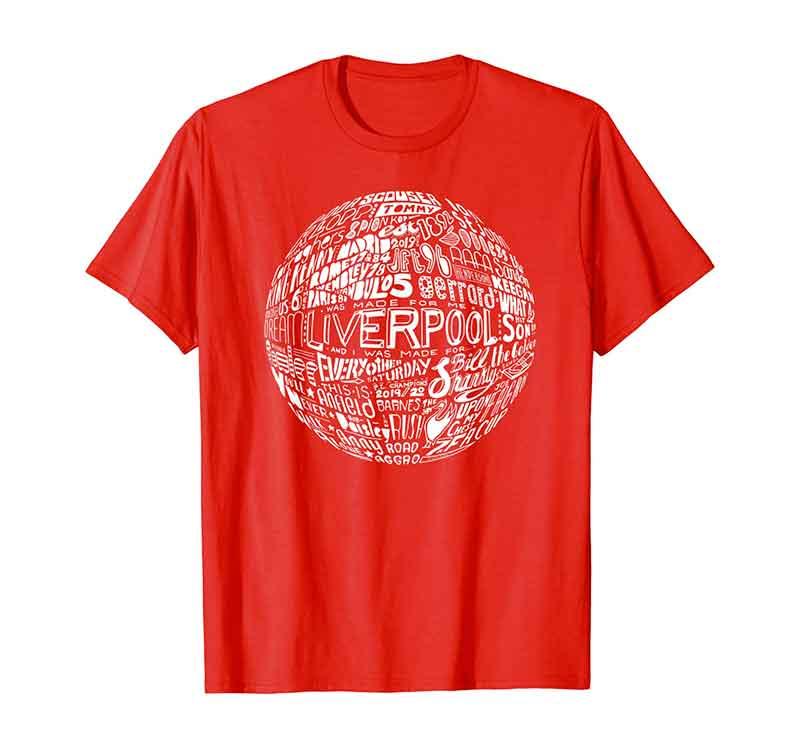 Liverpool Football T-shirt by Sketchbook Design