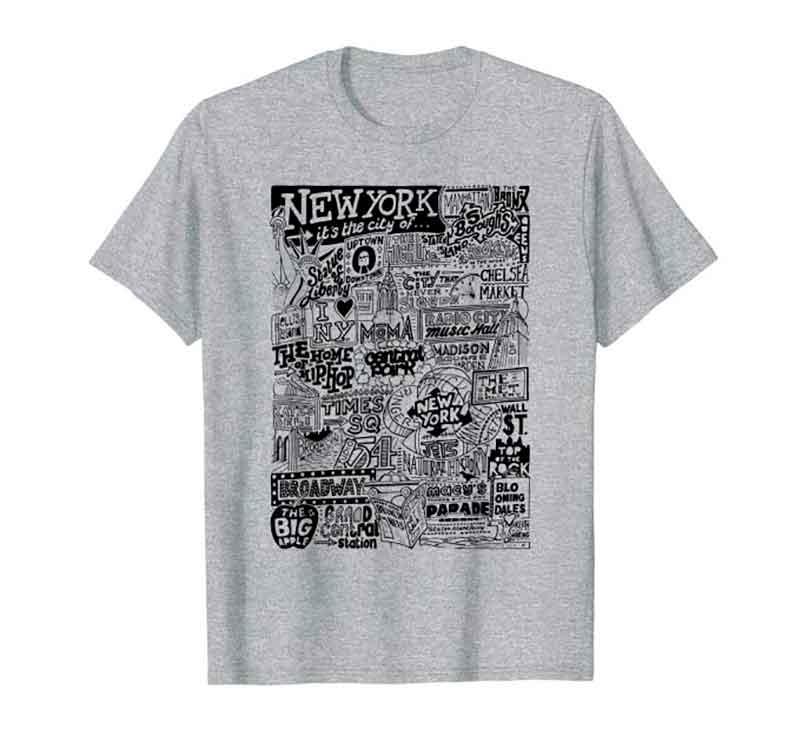 New York City Landmarks T-shirt