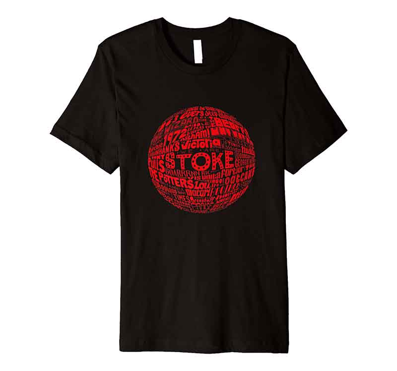 Stoke City Football T-shirt from Sketchbook Design