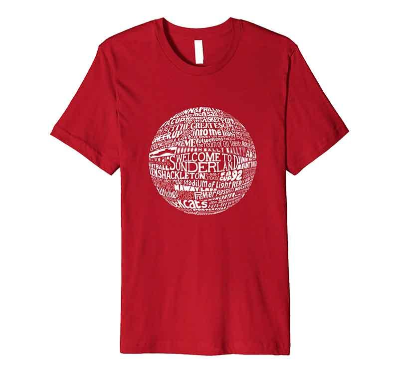 Sunderland AFC Football T-shirt Typography T-shirt from Sketchbook Design