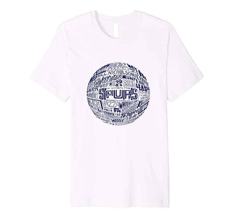 Tottenham Hotspur Football T-shirt Typography T-shirt from Sketchbook Design