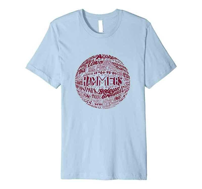 West Ham Football T-shirt from Sketchbook Design